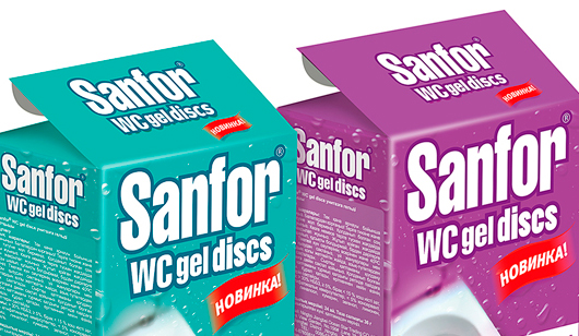 УПАКОВКА SANFOR WC GEL DISCS