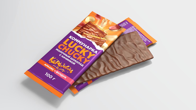 Дизайн упаковки для шоколада Lucky Chucky